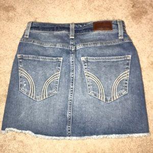 Hollister Skirts - hollister jean skirt